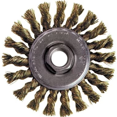 Knot Wire Wheel Brushes, Standard Twist Knot High Speed Steel Small Grinder, Steel, Bx305