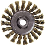 Knot Wire Wheel Brushes, Standard Twist Knot High Speed Steel Small Grinder, Steel, Bx207