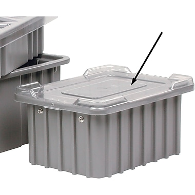 Divider Box Containers, Grey, Red And Blue Covers Available, CD437, 12/Pack