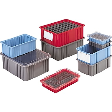 Divider Box Containers, Volume Cu. Ft., 0.10, Cc641