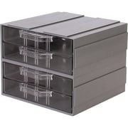 Add-A-Drawer – 2 tiroirs gris, 12/paquet