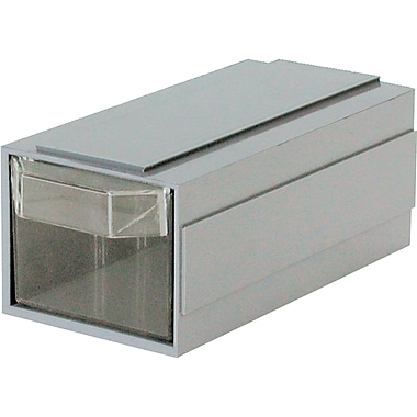 Add-A-Drawer – 1 tiroir gris, dimensions 2 1/2 larg. x 5 prof. x 2 haut. (po), 36/paquet
