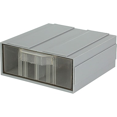 Add-A-Drawer – 1 tiroir gris, dimensions 5 larg. x 5 prof. x 2 haut. (po), 36/paquet