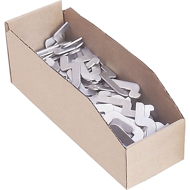 Bacs en carton ondulé de 12 po de profondeur pour pièces, bacs, 2, 100/paquet