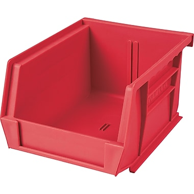 Plastic Bins, Red, Bin Load Cap. Lbs., CB094, 24/Pack
