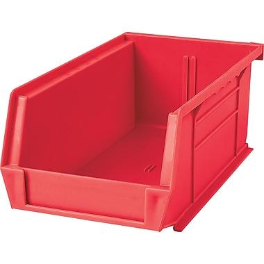 Kleton Plastic Bins, Bins, Red, Bin Load Cap. 10lbs., 36/Pack, (CF827)