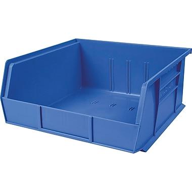 Plastic Bins, Blue, Bin Load Cap. Lbs., 50, CB102, 12/Pack