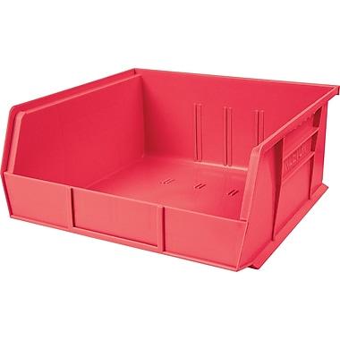 Plastic Bins, Red, Bin Load Cap. Lbs., 50, CB103, 12/Pack