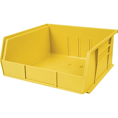 Plastic Bins, Yellow, Bin Load Cap. Lbs., 50, CB104, 12/Pack