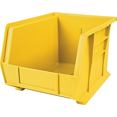 Plastic Bins, Yellow, Bin Load Cap. Lbs., 50, CB107, 12/Pack