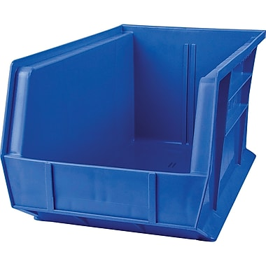 Kleton Stack and Hang Plastic Bins, Blue, 12/Pack (CF845)