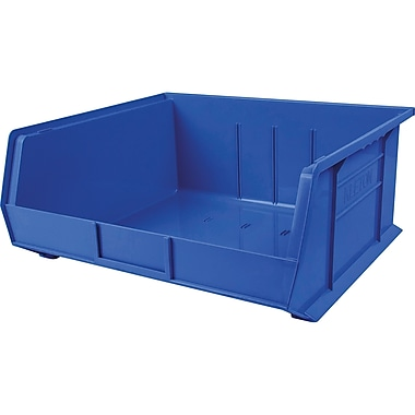Plastic Bins, Blue, CB117, 2/Pack