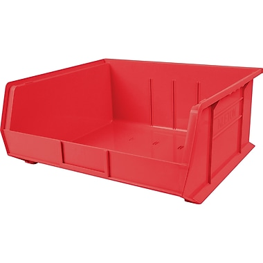 Plastic Bins, Bins, Red, Bin Load Cap. Lbs., 75