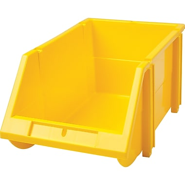 Hi-Stak Plastic Bins, Yellow, CB263