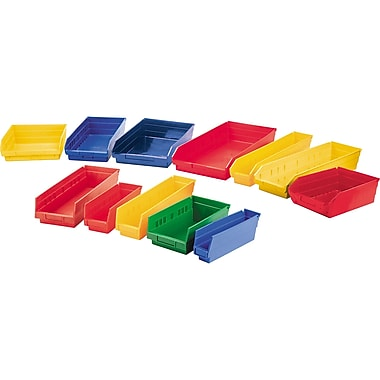 Shelf Bins, Yellow, Bin Cup Per Bin, 13x CD036, 4x CB041, 12/Pack