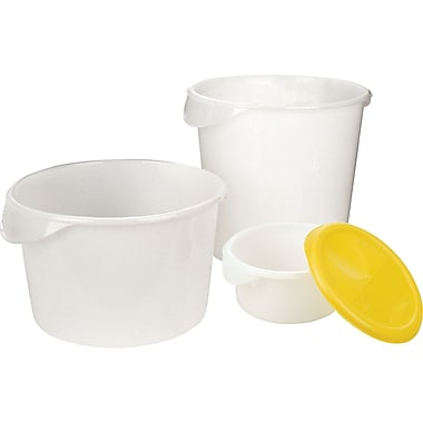 Round Storage Containers, Wt. Lbs., 0.35, CB583, 12/Pack