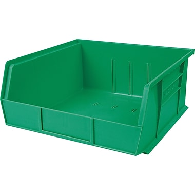Plastic Bins, Green, CB669, 12/Pack