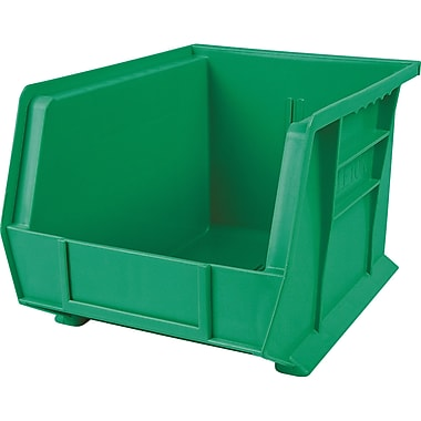 Plastic Bins, Green, CB671, 12/Pack