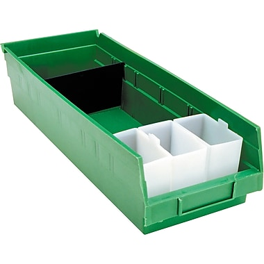 Shelf Bins, Green, Bin Cup Per Bin, 15x CB379, 6x CB380, 12/Pack