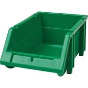 Hi-Stak Plastic Bins, Green, CC234
