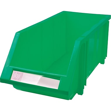 Hi-Stak Plastic Bins, Green, CC237