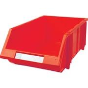 Hi-Stak Plastic Bins, Red, CC246