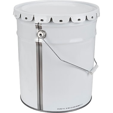 Pail Metal 20 Litre, White With Lid