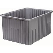 Divider Box Containers, Volume Cu. Ft., 2.03, CC649, 2/Pack