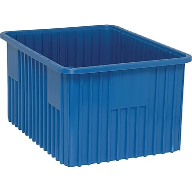 Divider Box Containers, Volume Cu. Ft., 2.03, CC954, 2/Pack