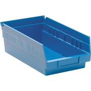 "Shelf Bin 11 7/8""l X 6 5/8""w X 4""h, Blue"