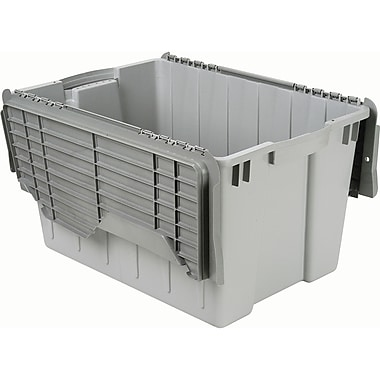 Gray Flip Top Containers