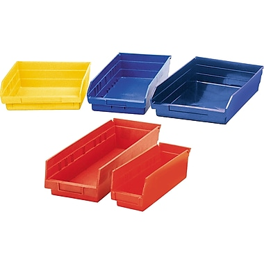 Store More Plastic Shelf Bins, Bins, CF220, Plastic, 12/Pack