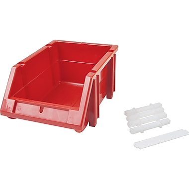 Store More Plastic Shelf Bins, Bins, Cf242, Plastic