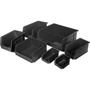 Recycled Plastic Bins, Black (CF435)