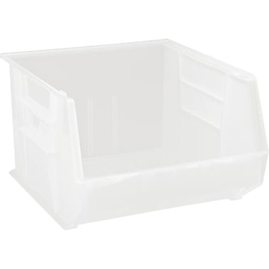 Plastic Bins, White, CF524, 2/Pack