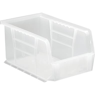 Clear-view Stack & Hang Bins, 20 Lbs. Capacity, CF738, 12/Pack