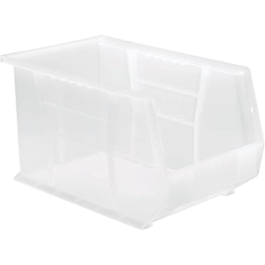 Clear-view Stack & Hang Bins, Clear, Material, FDA Approved Polypropylene