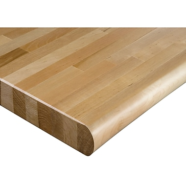 Laminated Hardwood Top, Bullnose Edge, Dimensions