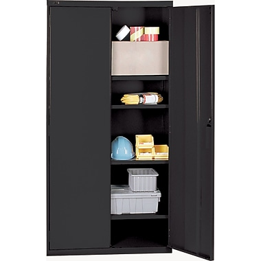 All-welded Hi-boy Storage Cabinet4, Black, Assembly Type, Welded, Assembled