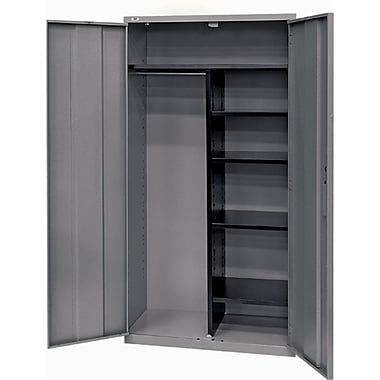 All-welded Combination Storage Cabinet, 4, Cabinet, Charcoal