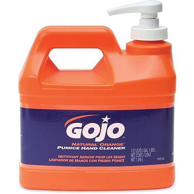 Gojo – Nettoyant Natural Orange à la pierre ponce pour les mains, JA328