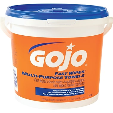 Gojo – Lingettes essuie-mains Fast Wipes à multiples usages, paq./3