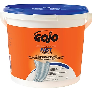 Gojo – Lingettes essuie-mains Fast Wipes à multiples usages, paq./2