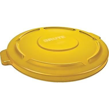 Couvercles Brute ronds, 24 1/2 dia. x 1 1/2 haut. (po), jaune, 4 lb, 2/paquet