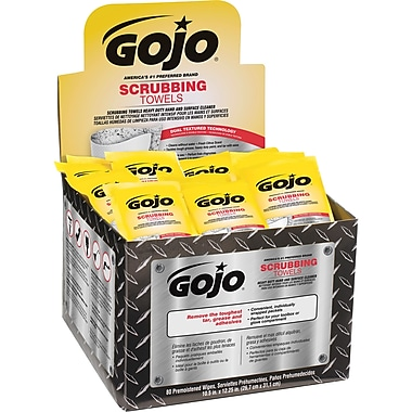 Gojo Multipurpose Scrubbing Wipes Display Carton, 2/Pack