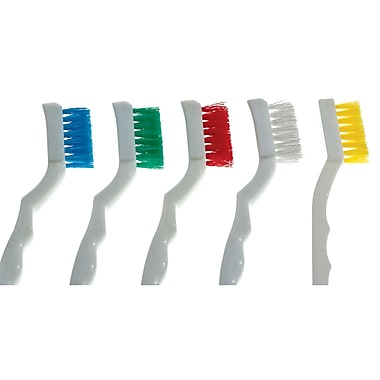 Brosses pour machines, moyen/rigide, jaune, 36/paquet