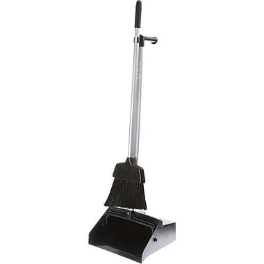 Lobby Dust Pans With Lobby Brooms, 3/Pack