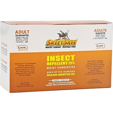 SkeetSafe Insect Repellent, JD314, Towelettes, 80/Pack
