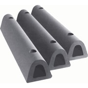 Extruded Rubber Dock Fenders, 4 1/2 X 3 3/4 X 12, Fender Drilled Extruded, Anchor Holes, 2 Req.