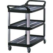 Rubbermaid Utility Cart Xtra 3 Shelf Open 300 Lb Cap Black